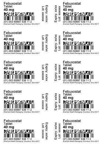 40 mg Febuxostat Tablet Blister