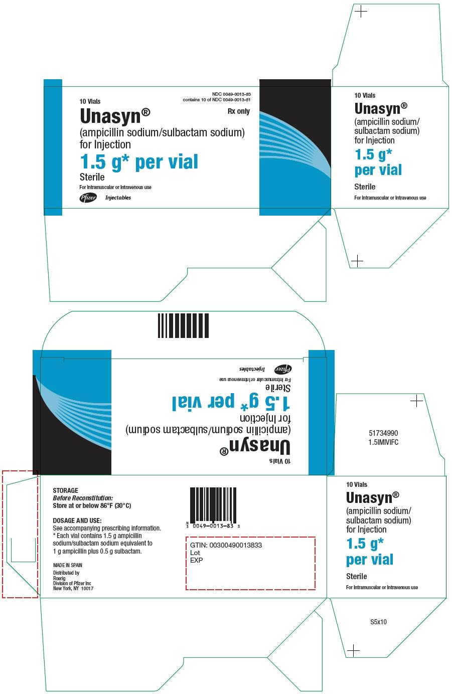 PRINCIPAL DISPLAY PANEL - 10 x 1.5 g Vial Carton
