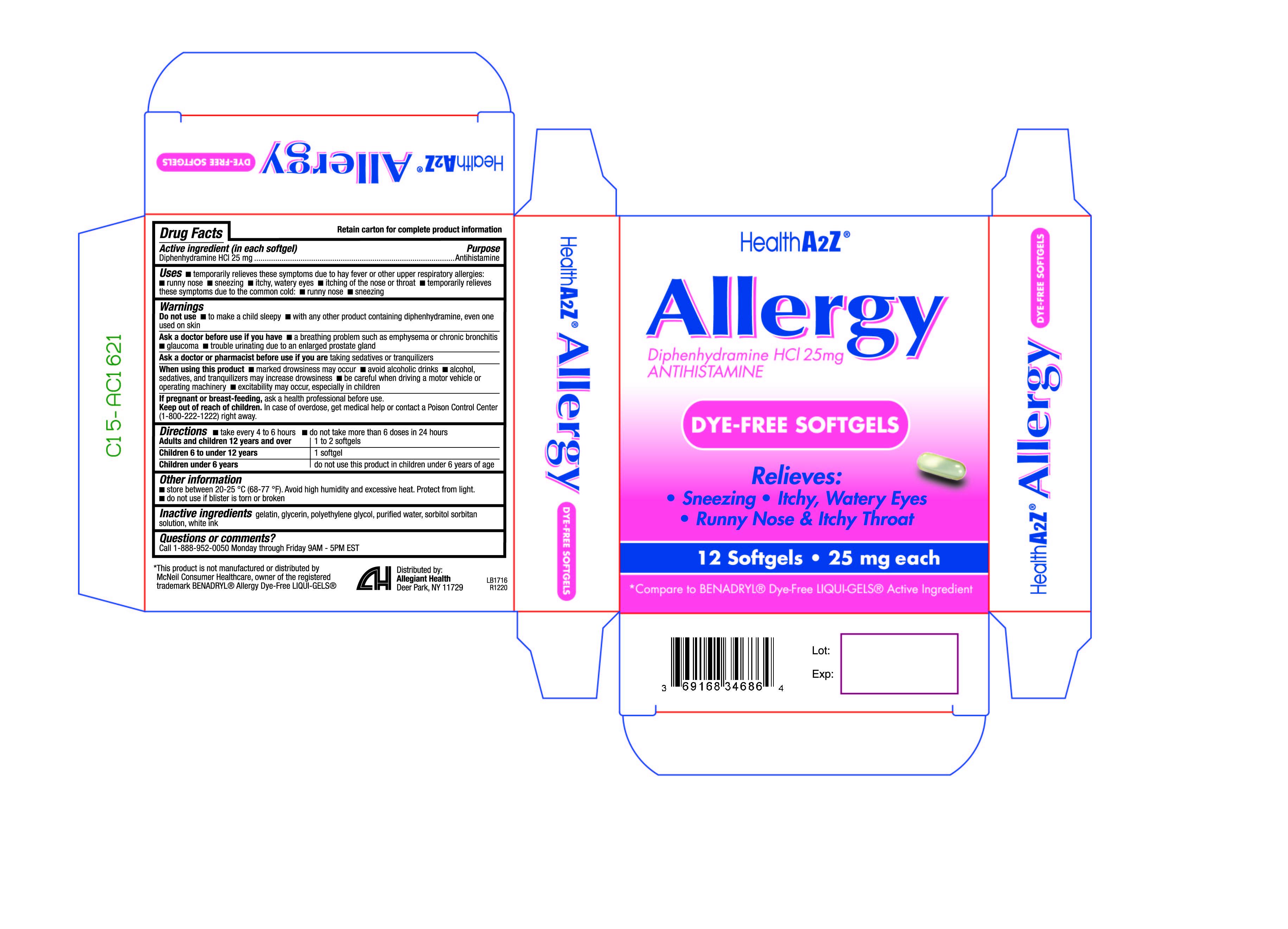 Diphenhydramine HCL 25mg