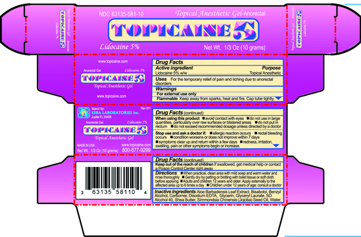 Outer carton of Topicaine 5% 10 g tubes
