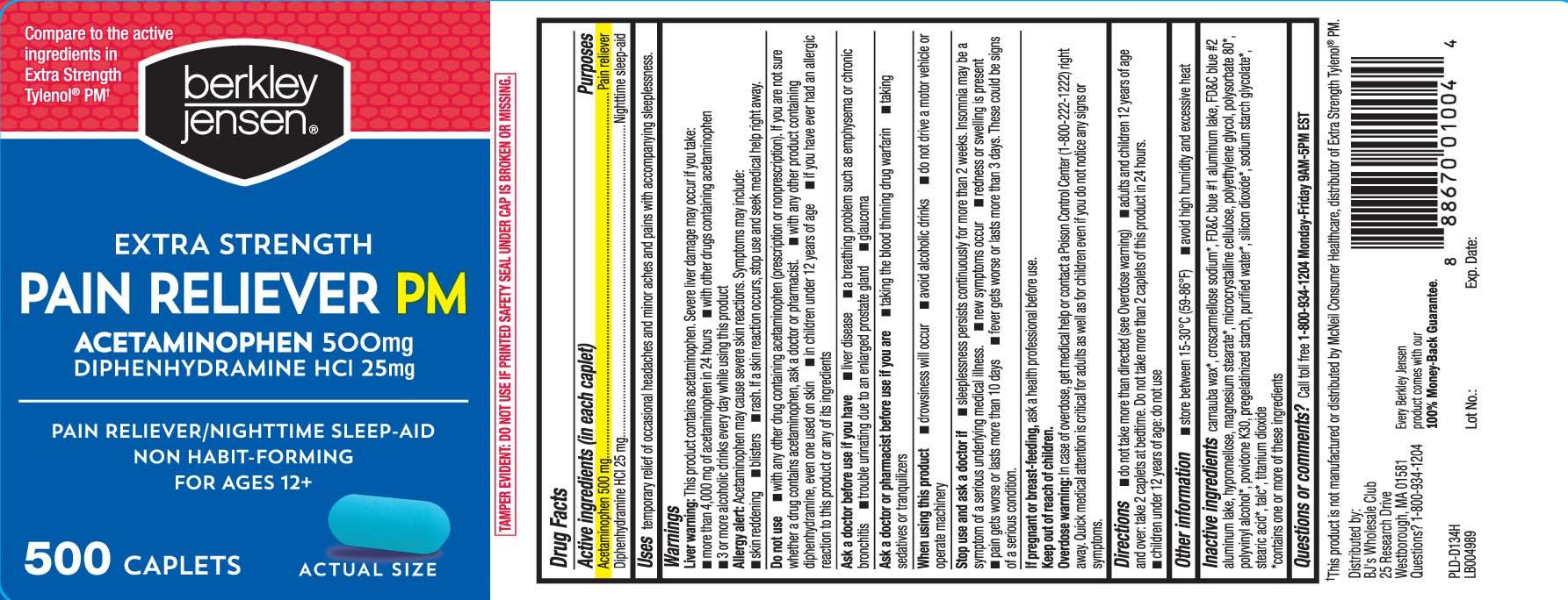 Acetaminophen 500 mg, Diphenhydramine HCI 25 mg