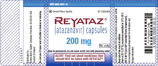 Reyataz 200 mg bottle label