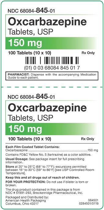 150 mg Oxcarbazepine Tablets USP Carton