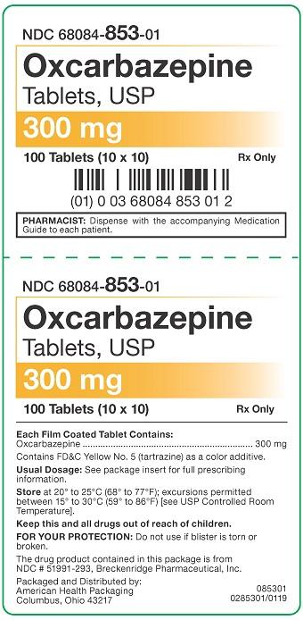 300 mg Oxcarbazepine Tablets USP Carton