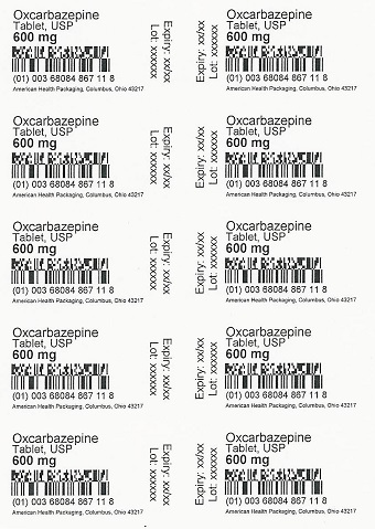 600 mg Oxcarbazepine Tablets USP Blister