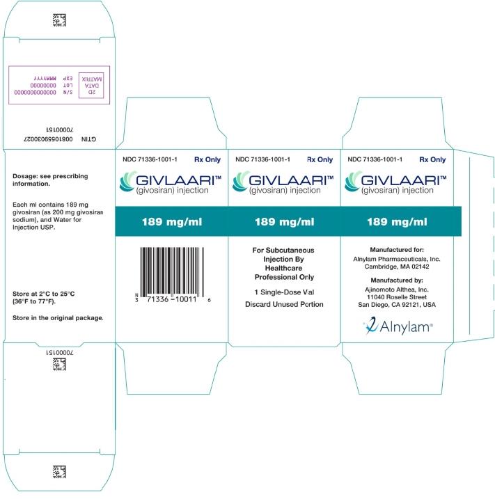 PRINCIPAL DISPLAY PANEL - 189 mg/ml Vial Carton
