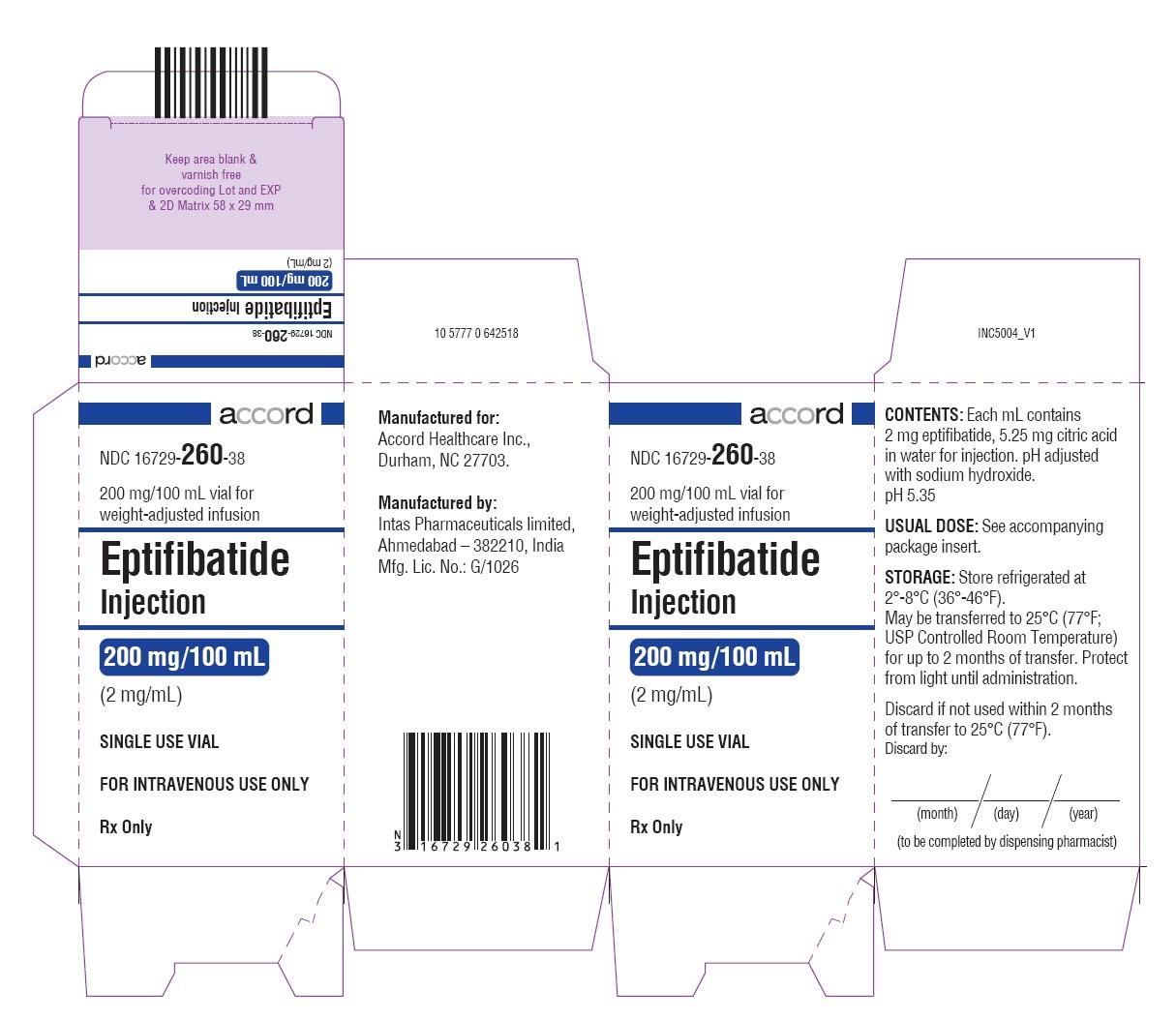 PRINCIPAL DISPLAY PANEL - 2 mg/mL Vial Carton