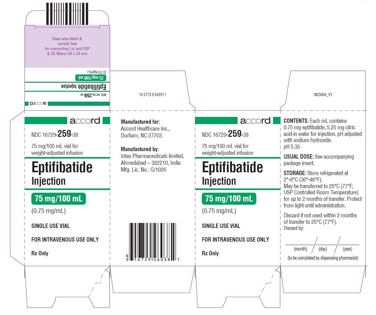 PRINCIPAL DISPLAY PANEL - 0.75 mg/mL Vial Carton