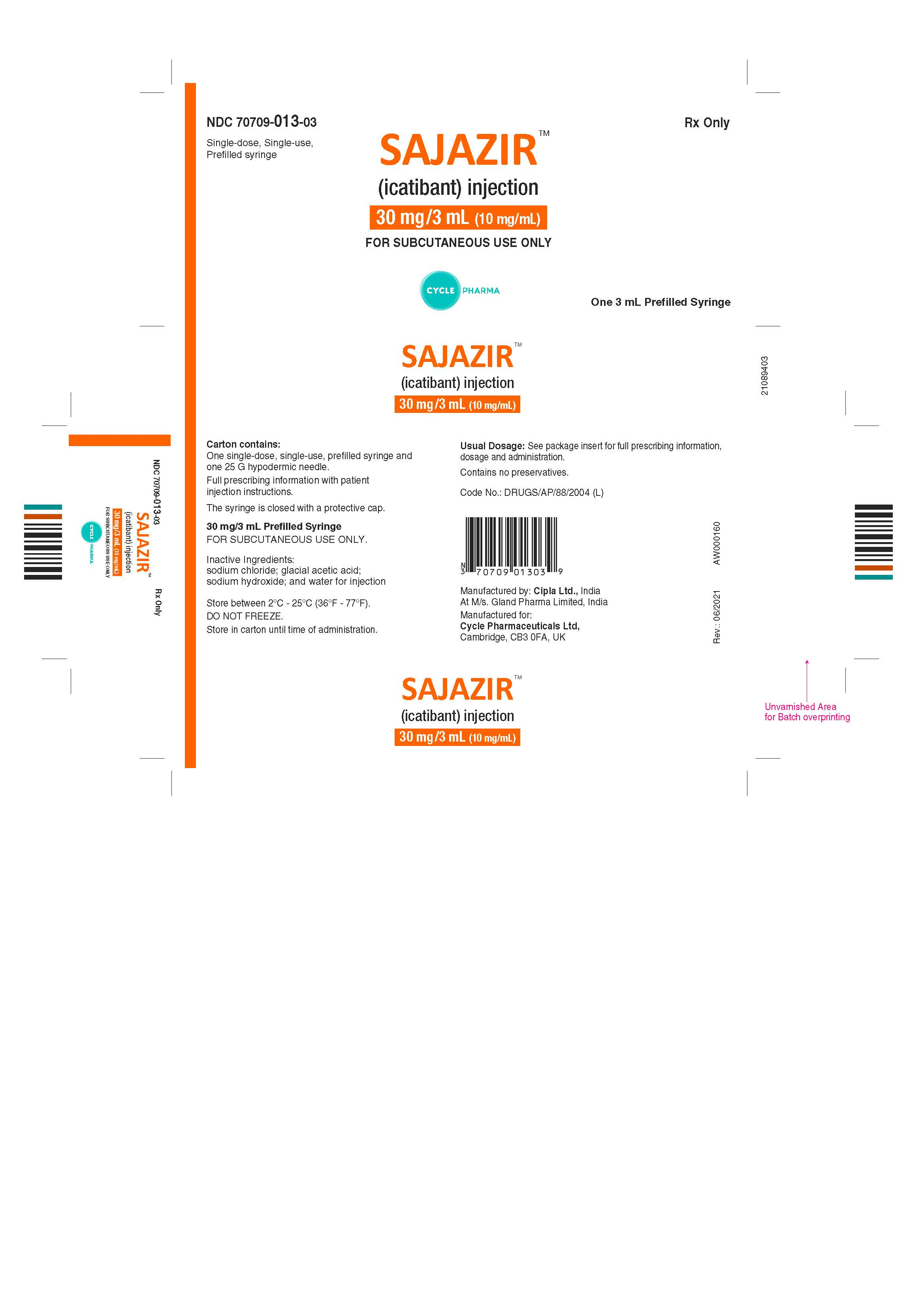 30mg per 3 mL 3s pack carton