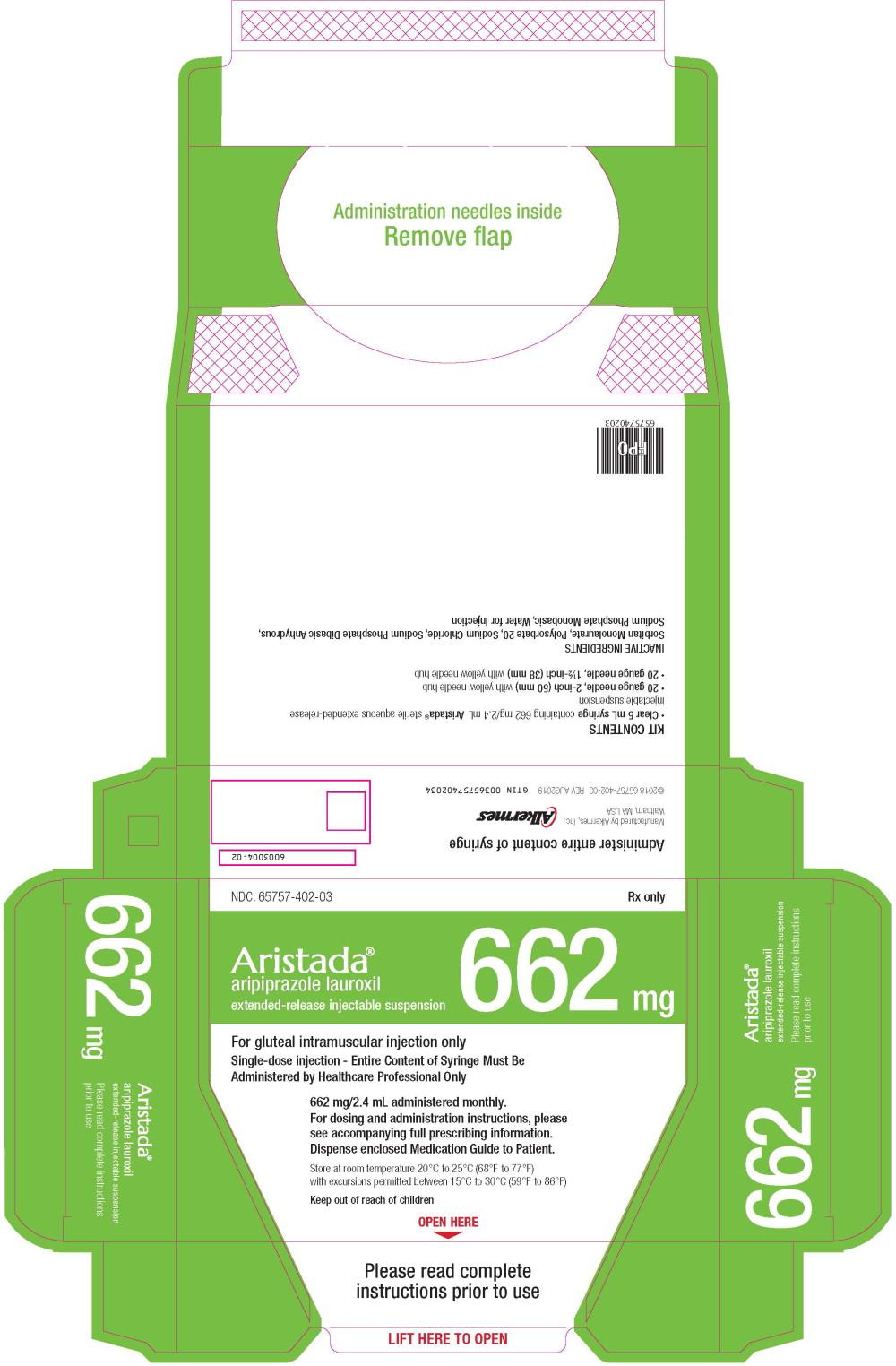 Principal Display Panel - 662 mg/2.4 mL Carton Label
