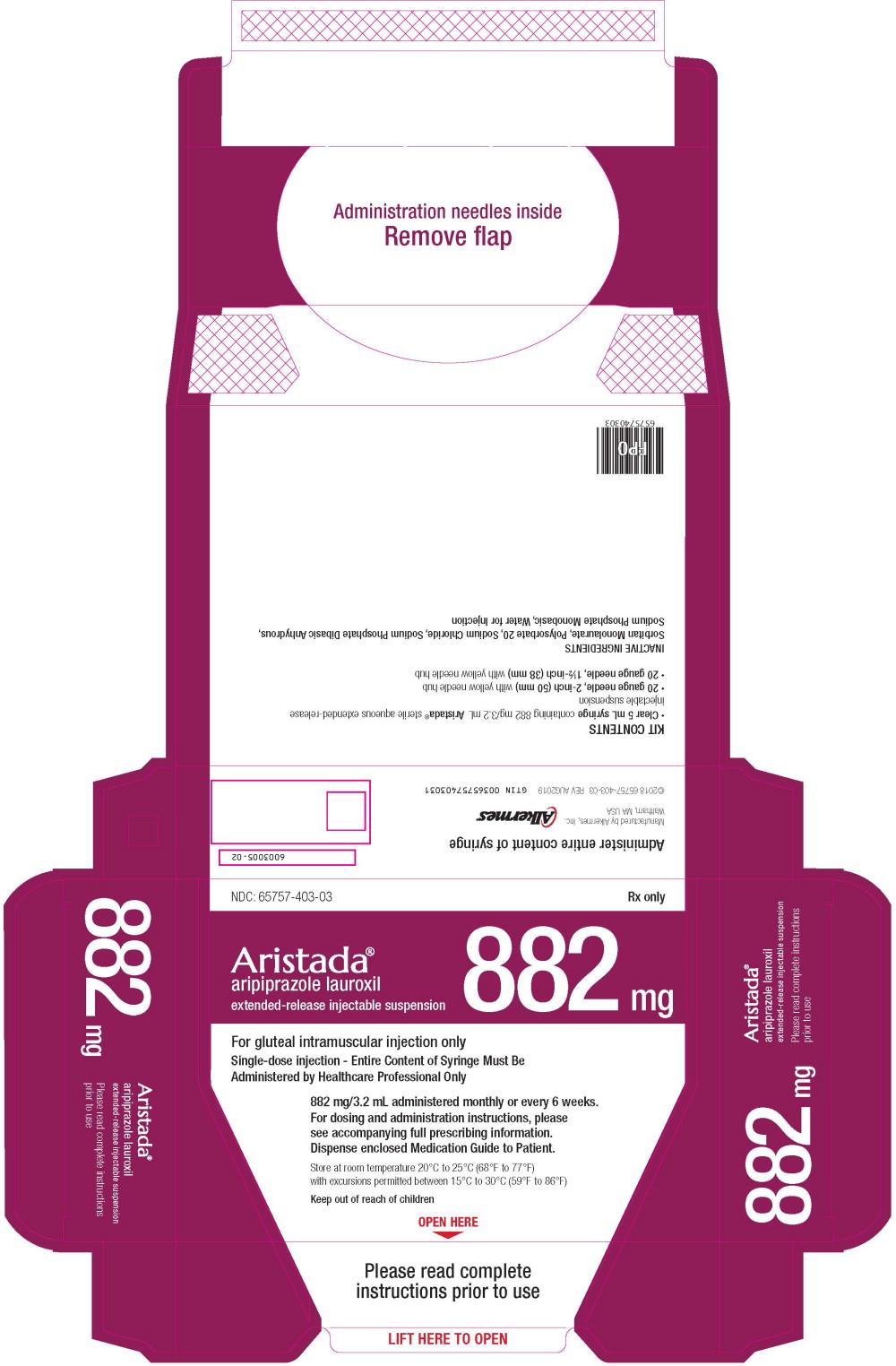 Principal Display Panel - 882 mg/3.2 mL Carton Label