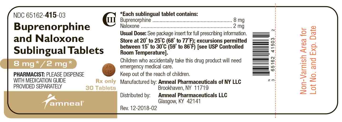 8 mg/2 mg Label