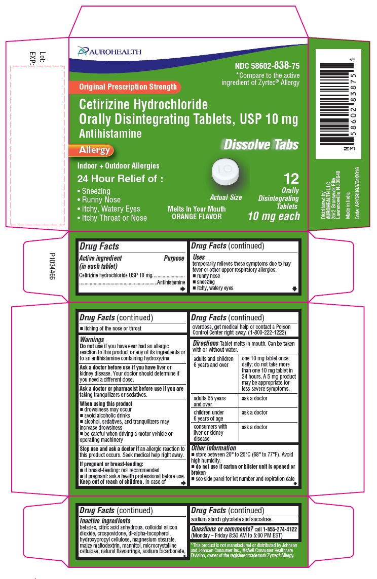 PACKAGE LABEL-PRINCIPAL DISPLAY PANEL -10 mg (12 Orally Disintegrating Tablets) Blister Carton