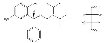 Tolterodine Tartrate Strcutural Formula