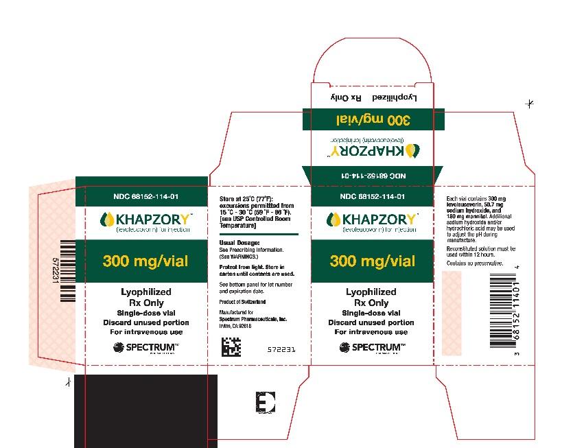 Khapzory 300 mg/vial carton