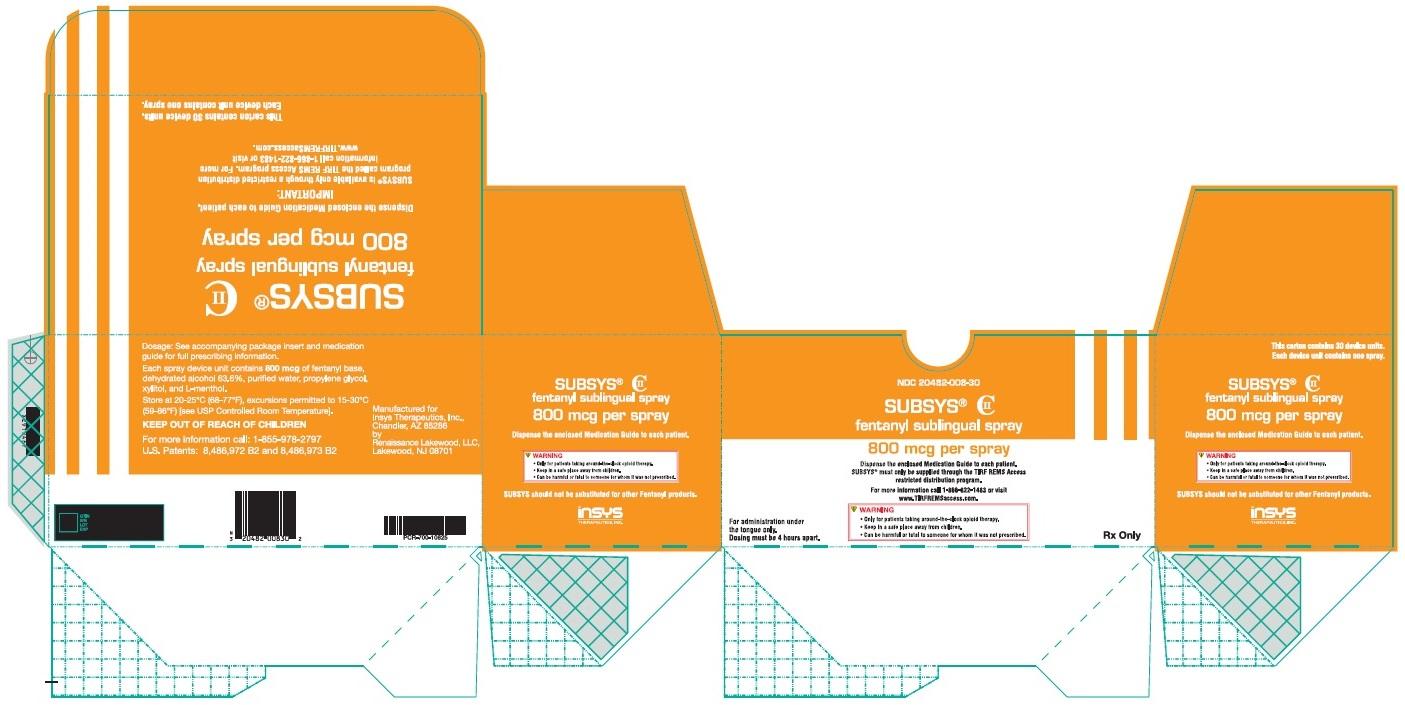800 mcg 30-ct Carton Label