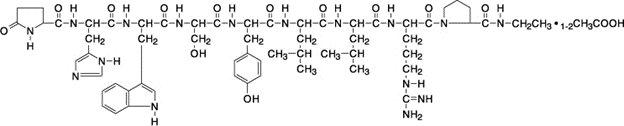 Leuprolide Acetate Chemical Structure