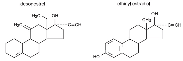 Desogestrel and Ethinyl Estradiol Structure
