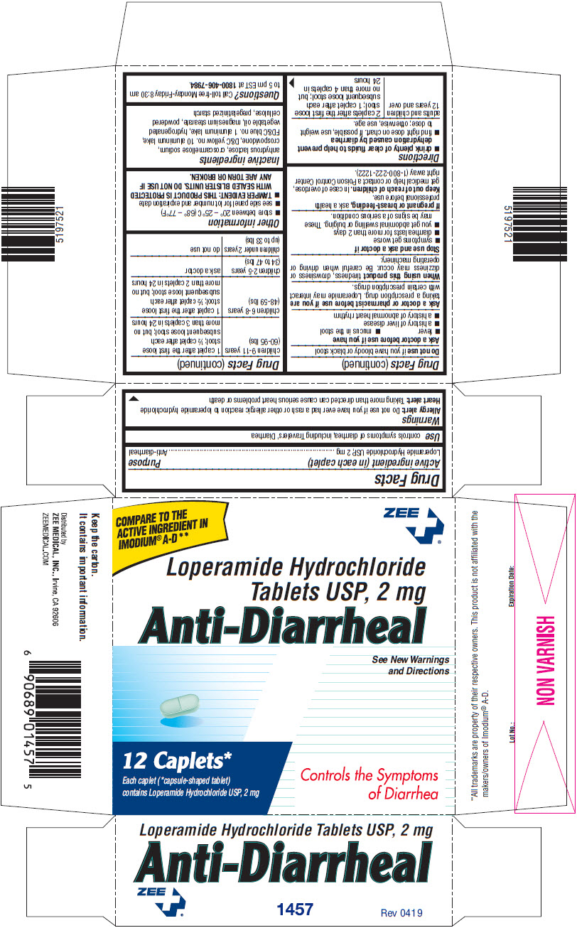 PRINCIPAL DISPLAY PANEL - 2 mg Caplet Blister Pack Carton