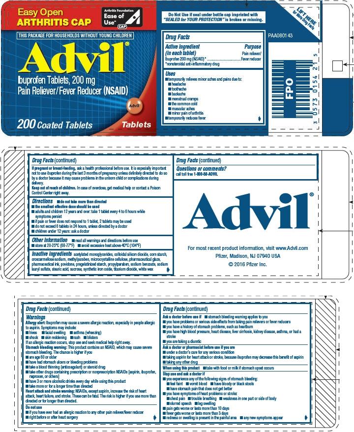 PRINCIPAL DISPLAY PANEL - 200 Count 200 mg Tablet Bottle Label