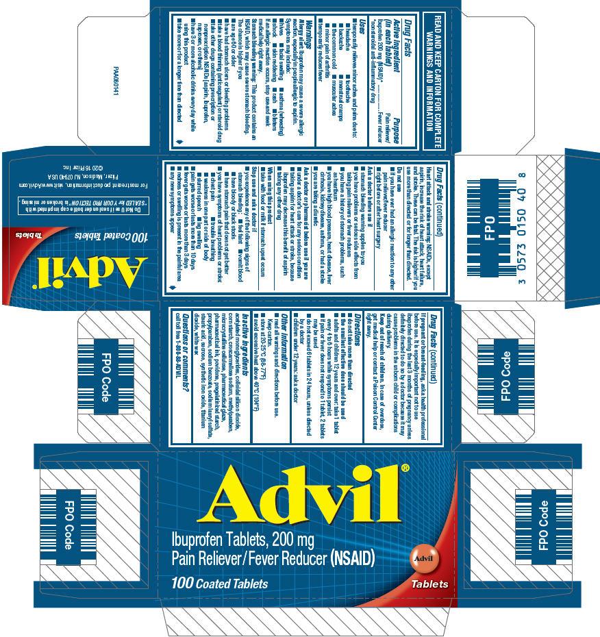 PRINCIPAL DISPLAY PANEL - 100 Count 200 mg Tablet Bottle Carton