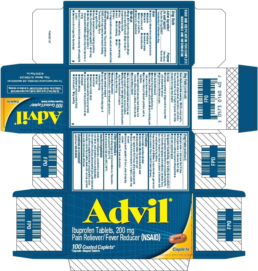 Principal Display Panel - 100 Count 200 mg Caplet Bottle Carton