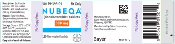 NUBEQA 300 mg label