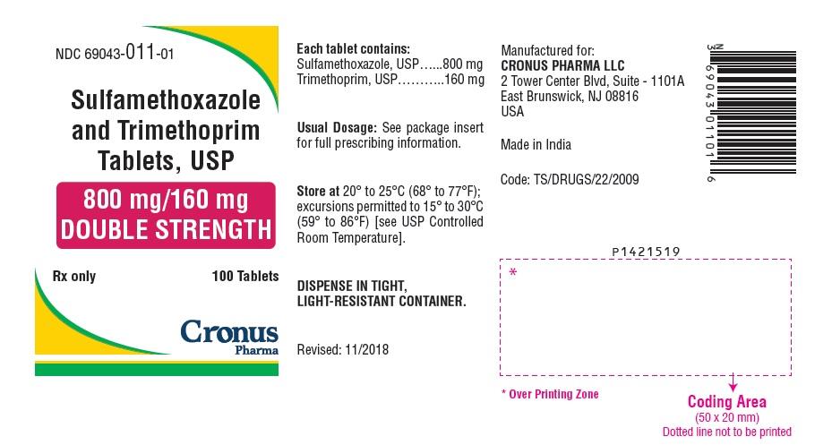 PACKAGE LABEL-PRINCIPAL DISPLAY PANEL - 800 mg/160 mg (100 Tablet Bottle)