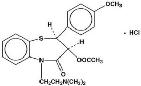 Diltiazem Hydrochloride Structural Formula