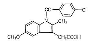 Structural Formula of Indomethacin