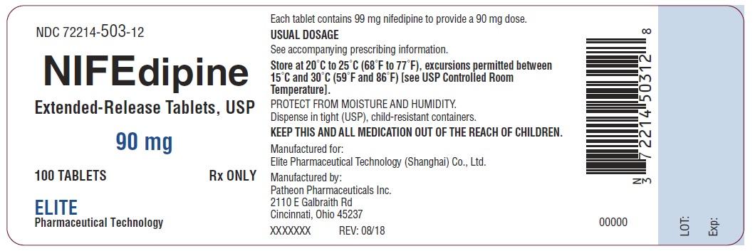 PRINCIPAL DISPLAY PANEL - 90 mg Tablet Bottle Label