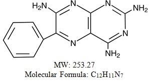 Triamterene Structural Formula
