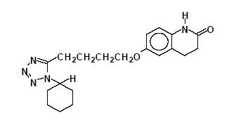 Chemical Structure for Cilostazol