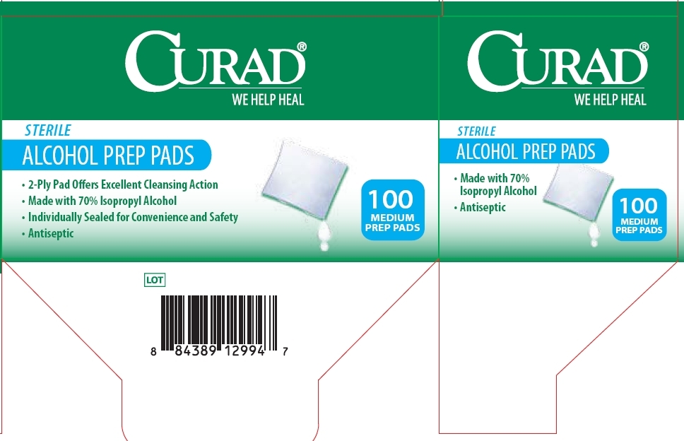 Package Label Principal Display Panel Curad Alcohol Prep Pads
