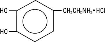 structural formula dopamine