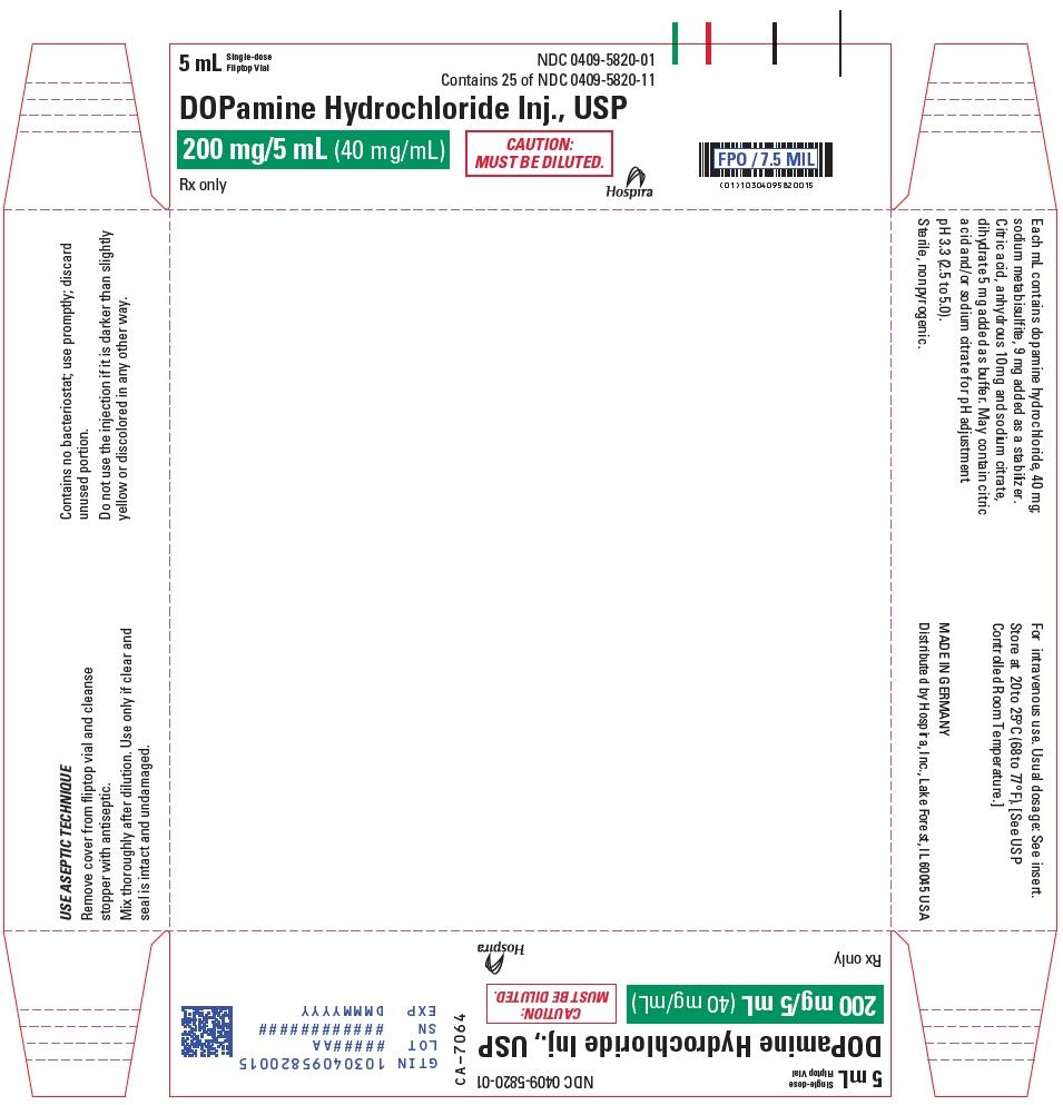 PRINCIPAL DISPLAY PANEL - 5 mL Vial Tray