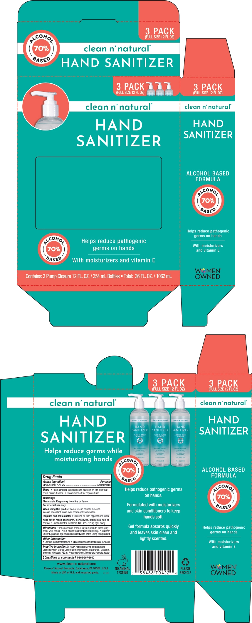 PRINCIPAL DISPLAY PANEL - 3 Bottle Carton