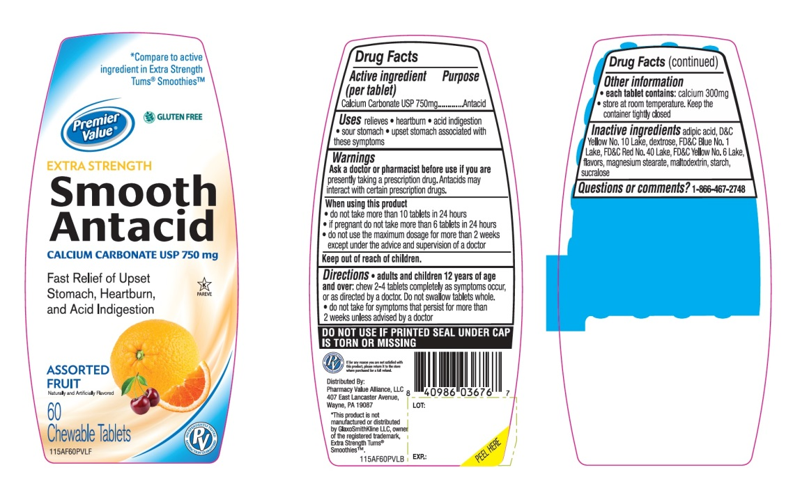 Extra Strength Smooth Antacid Calcium Carbonate