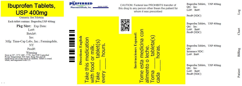Ibuprofen Tablets USP 400mg