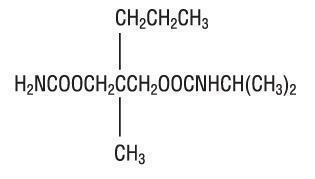 structural formula of CARISOPRODOL