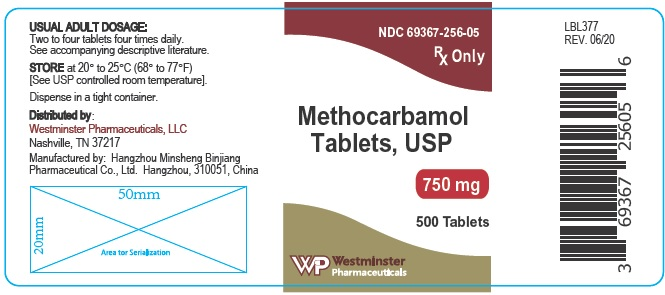 westminster 750mg 500ct label
