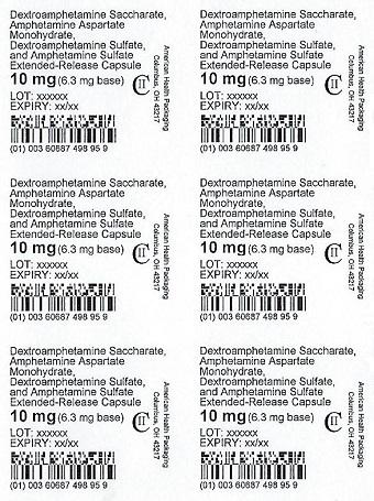 10 mg Amphet Salts ER Capsule Blister