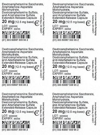 20 mg Amphet Salts ER Capsule Blister