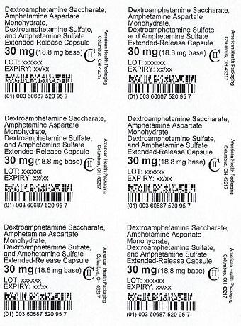 30 mg Amphet Salts ER Capsule Blister