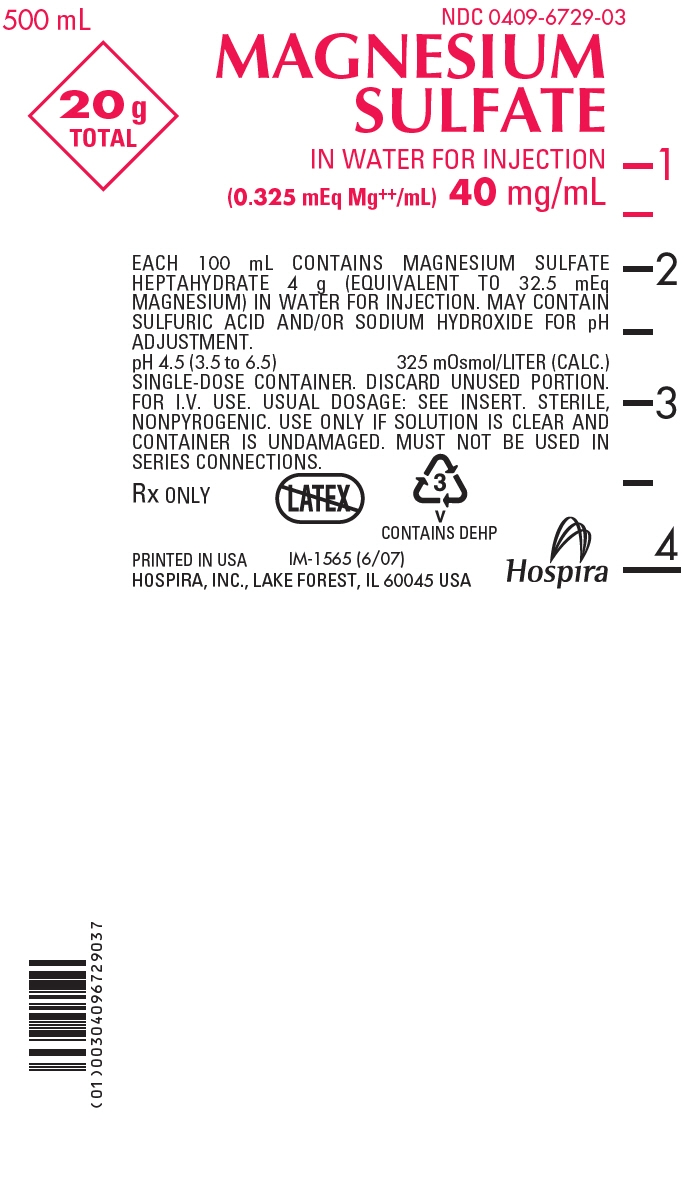 PRINCIPAL DISPLAY PANEL - 40 mg/mL Bag Label - 500 mL