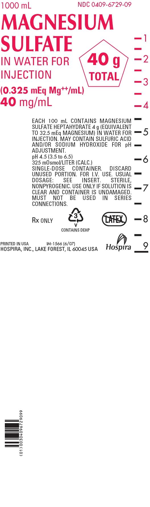 PRINCIPAL DISPLAY PANEL - 40 mg/mL Bag Label - 1000 mL