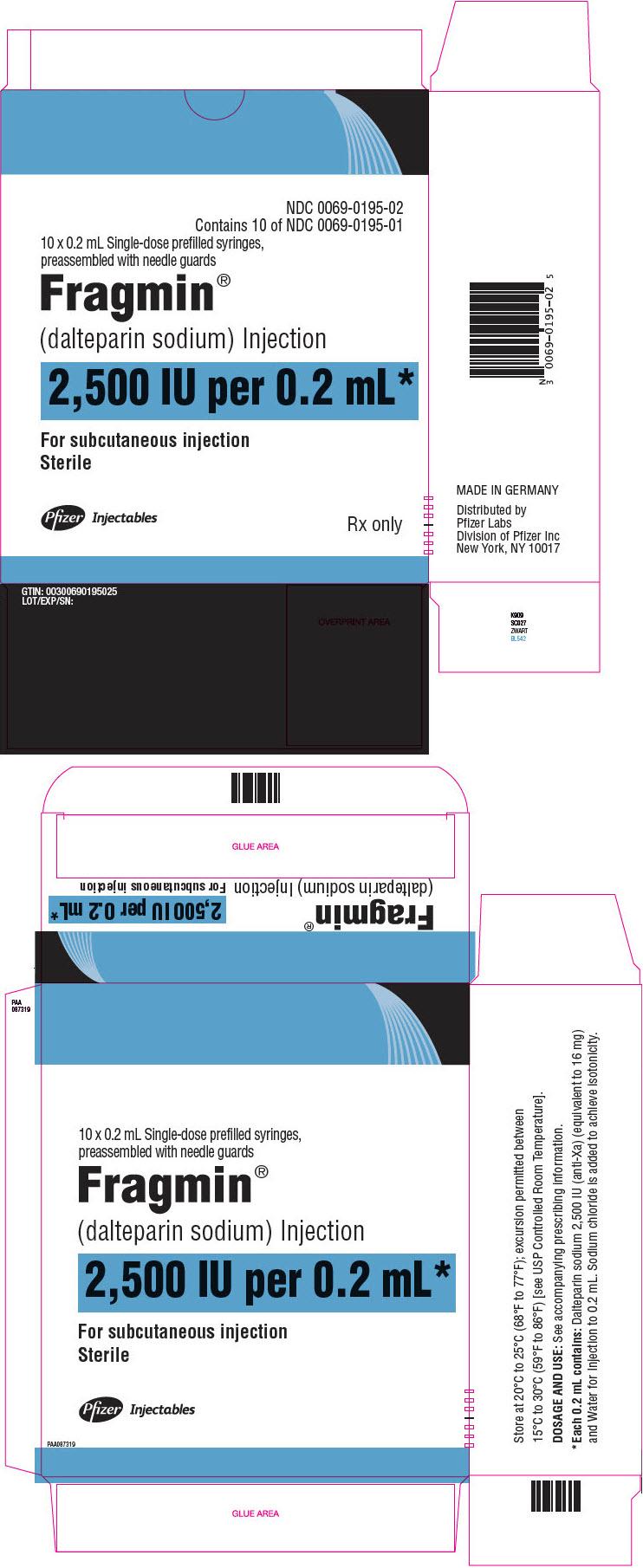 PRINCIPAL DISPLAY PANEL - 0.2 mL Syringe Carton - 0195
