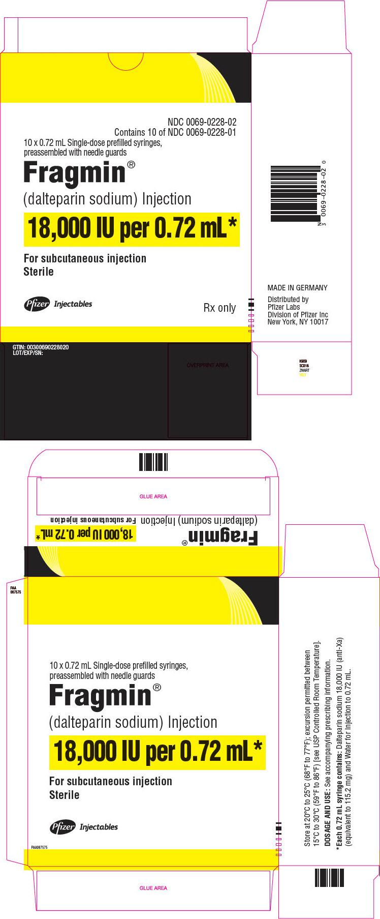 PRINCIPAL DISPLAY PANEL - 0.72 mL Syringe Carton