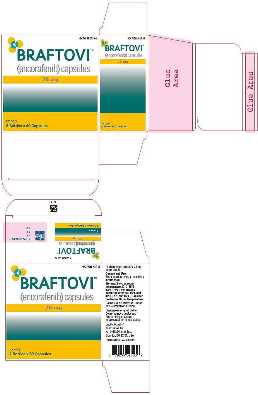 PRINCIPAL DISPLAY PANEL - 75 mg Capsule Bottle Carton - 025-01