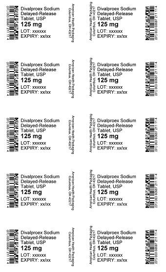 125 mg Divalproex Sodium DR Tablet Blister